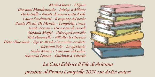 Il Filo di Arianna con 12 Autori al Premio Campiello 2021